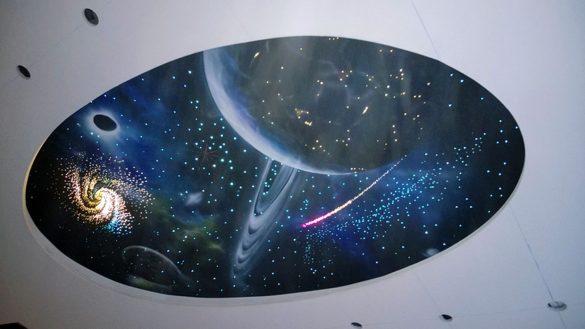натяжной потолок небо фото