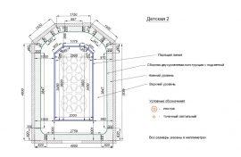 Пример 2D дизайна натяжного потолка