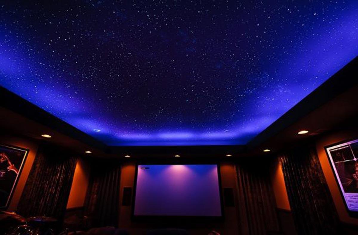 качественные натяжные потолки звездное небо фото