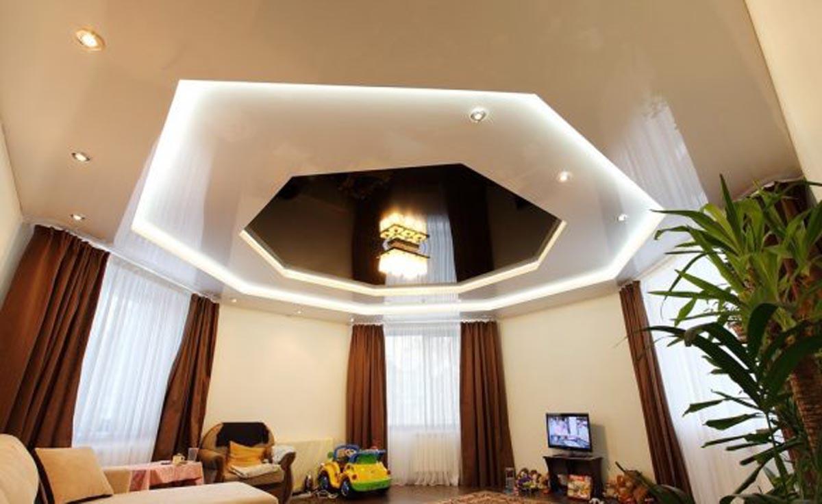 многоуровневй потолок дешево фотография